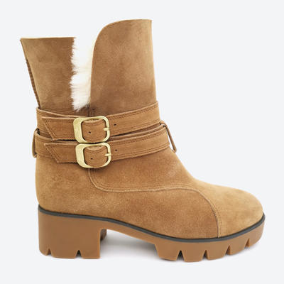 durable womens sheepskin lined winter boots