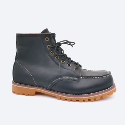HQB-MS003 custom quality fashion style genuine sheepskin boots for men